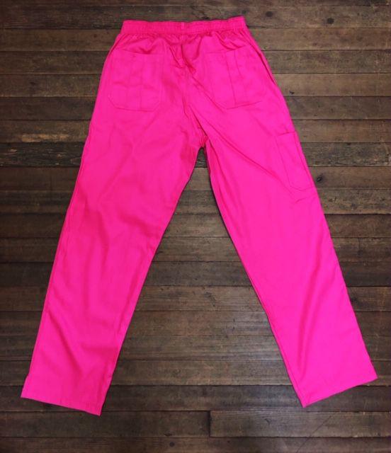 Calça Anatomys UNISEX PINK com dois bolsos na frente e dois atrás e cordão ROSA Tecido Sarja 100% Algodão