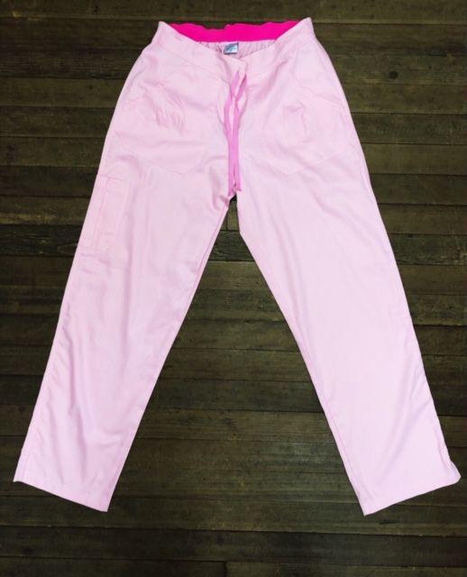 Calça Anatomys UNISEX ROSA CLARO com dois bolsos na frente e dois atrás e cordão PINK Tecido Sarja 100% Algodão