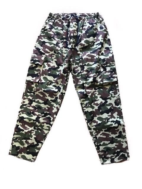 Calça Confort 2  Bolsos Cargo lateral UNISEX Camuflada ARMY  com dois bolsos faca na frente e cordão  Tecido Sarja 90% Algodão 10% Elastano