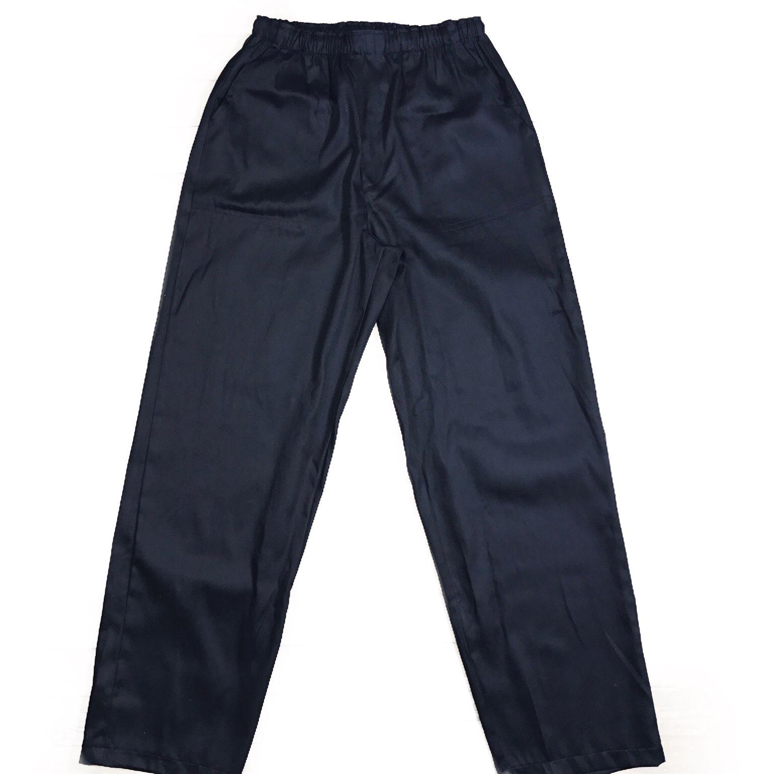 Calça Confort UNISEX PRETA com dois bolsos faca na frente e cordão Tecido Sarja 100% Algodão