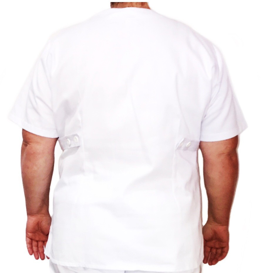 Camisa Pijama Cirúrgico BRANCO Scrub Anatomy Feminino PLUS SIZE  Tecido 100% algodão