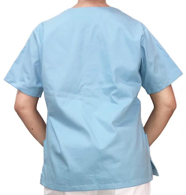 Camisa Pijama Cirurgico SCRUB MASCULINO  Camisa AZUL CLARO  Tecido 100% algodão
