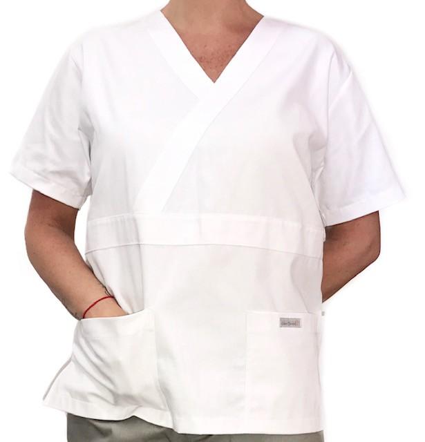 Camisa Pijama Cirurgico SCRUB MASCULINO  Camisa BRANCA  Tecido 100% algodão