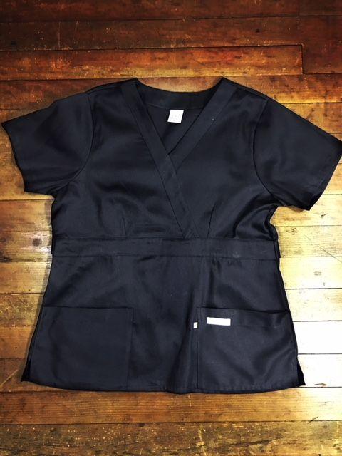 Camisa  Scrub Anatomys UNISEX  PRETA  com ajuste para acinturar Atras  Tecido 100% Algodão