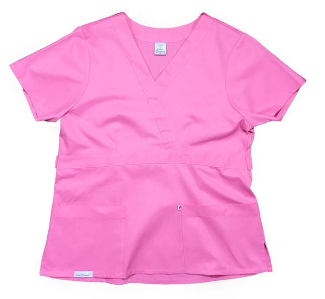 Camisa Scrub Anatomys UNISEX  ROSA  com ajuste para acinturar Atrás  Tecido 100% Algodão
