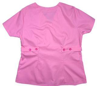 Camisa Scrub Anatomys Feminino  ROSA  com ajuste para acinturar Atrás  Tecido 100% Algodão