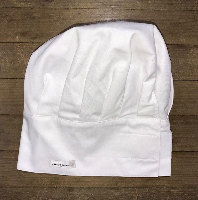 Chapéu Gourmet Branco com regulador de tamanho