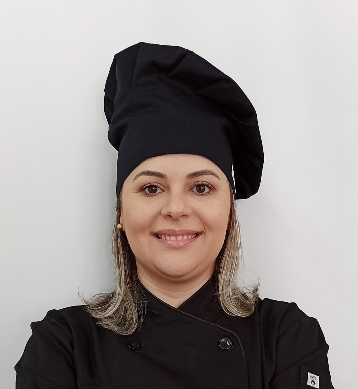 Chapéu Gourmet PRETO com Velcro Regulador de tamanho 100% Algodão