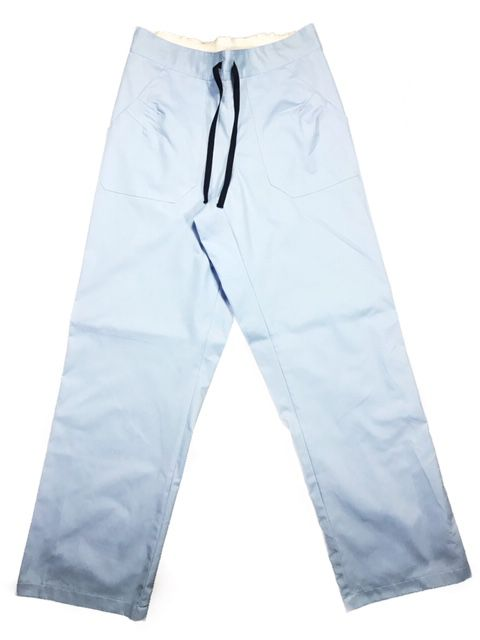 Conjunto Dólmã Cecília Feminino Acinturado AZUL com botões AZUL Sarja Leve 100% algodão + Calça Azul ANATOMYS