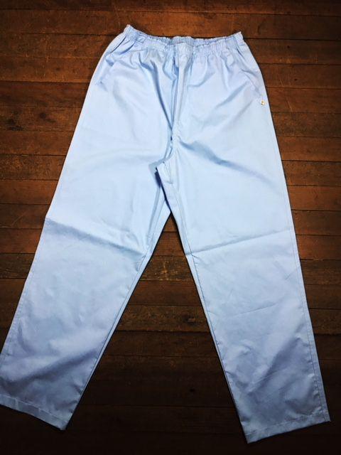 Conjunto Dólmã Cecília Feminino Acinturado AZUL com botões GREY HEART Sarja Leve 100% algodão + Calça Azul ANATOMYS