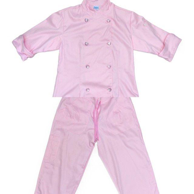Conjunto Dólmã Cecília Feminino Acinturado ROSA CLARO Vivo Rosa com botões PINK HEART Sarja Leve 100% algodão + Calça ROSA CLARO ANATOMYS