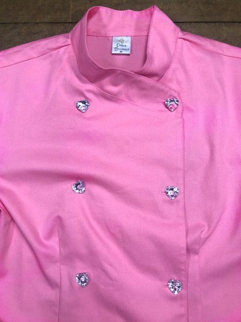 Conjunto Dólmã Cecília Feminino Acinturado ROSA e botões GREY HEART Sarja Leve 100% algodão + Calça CINZA ANATOMYS ALGODÃO CORDÃO BRANCO