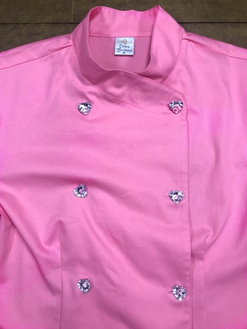 Conjunto Dólmã Cecília Feminino Acinturado ROSA e botões GREY HEART Sarja Leve 100% algodão + Calça CINZA ANATOMYS Microfibra Premium CORDÃO BRANCO