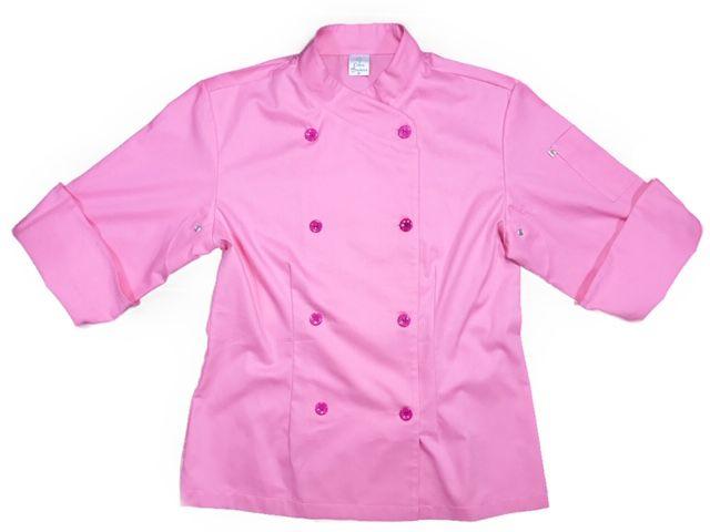 Conjunto Dólmã Cecília Feminino Acinturado ROSA e botões PINK Sarja Leve 100% algodão + Calça CINZA ANATOMYS ALGODÃO CORDÃO BRANCO