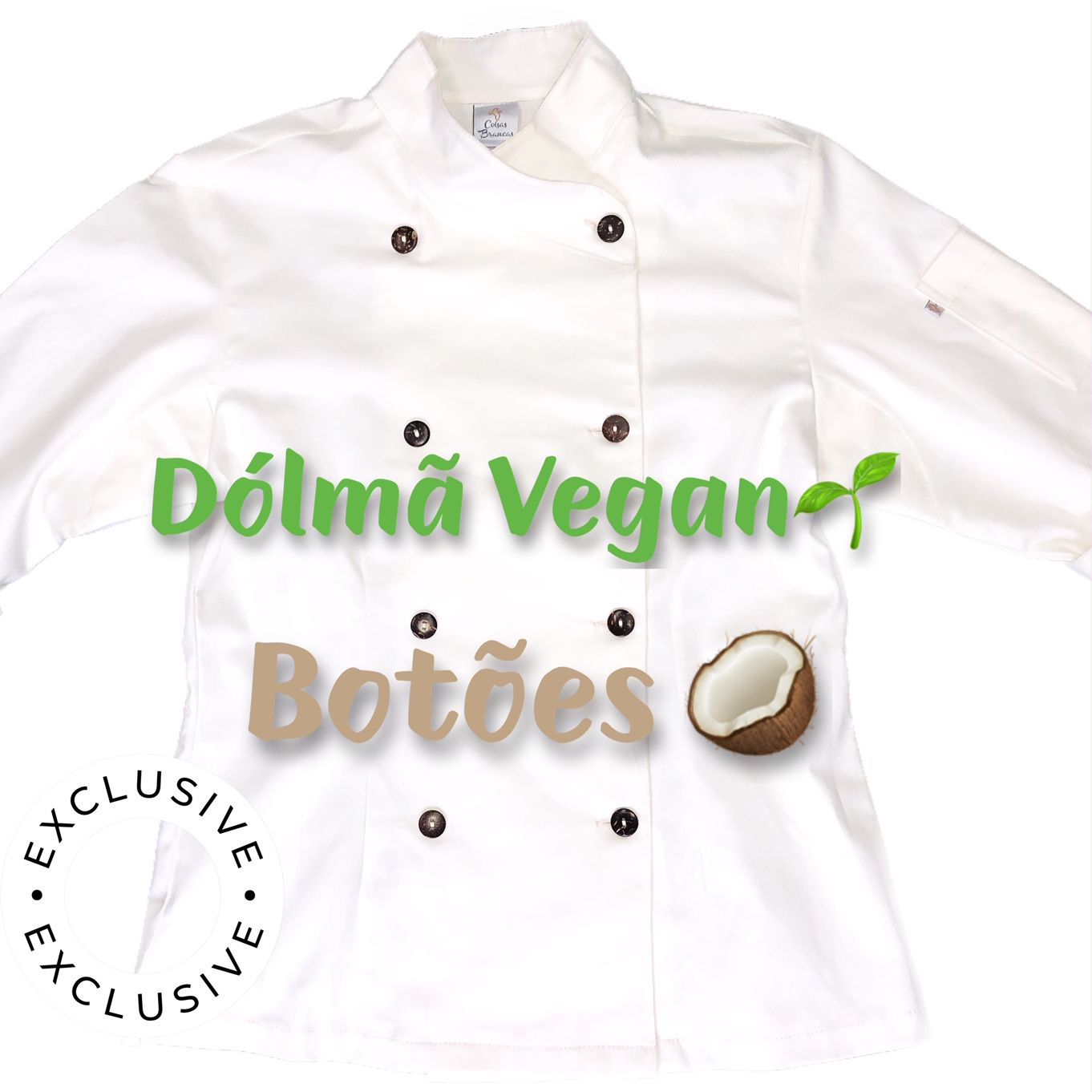 Conjunto Dólmã Cecília Feminino Acinturado VEGANA e botões COCO Sarja Leve 100% algodão + Calça CINZA ANATOMYS  MICROFIBRA CINZA CORDÃO BRANCO