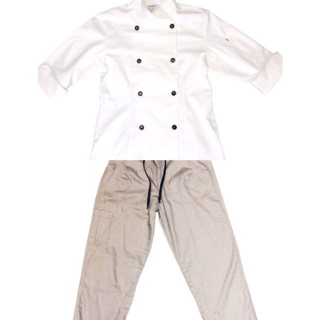 Conjunto Dólmã Cecília Feminino Acinturado VEGANA e botões COCO Sarja Leve 100% algodão + Calça CINZA ANATOMYS  100% ALGODÃO CINZA CORDÃO PRETO