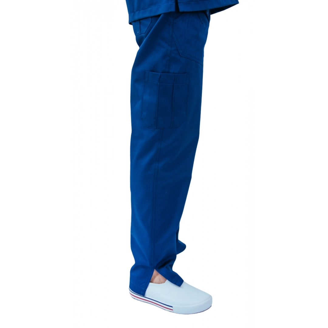 Conjunto pijama cirúrgico Scrub Anatomy unissex azul marinho 100% algodão