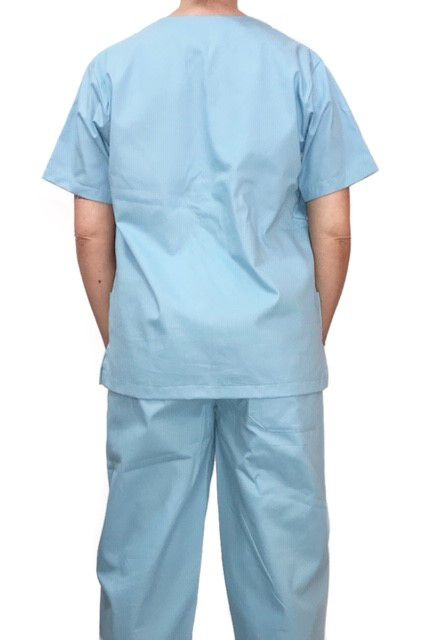 Conjunto Pijama Cirurgico SCRUB MASCULINO  Camisa AZUL CLARO e Calça AZUL CLARO com Cordão AZUL CLARO Tecido 100% algodão