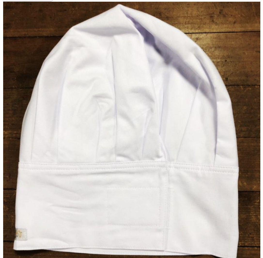 Conjunto Dólmã Clássica Manga 3/4 Botões VIVO Pretos 100% algodão branca bordada nome e logo + avental 4 Frentes branco 100% algodão + chapéu