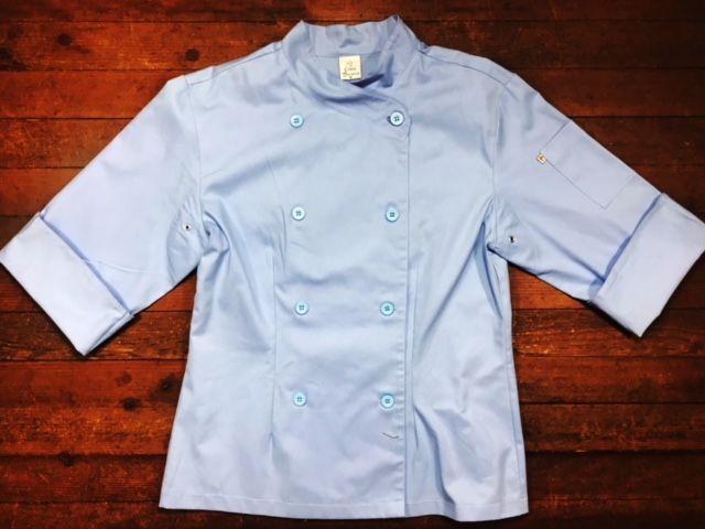 Dólmã Cecília Feminino Acinturado AZUL FLOWERS PINK ORANGE e botões Azul Sarja Leve 100% algodão