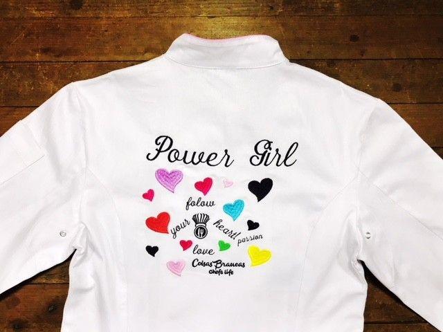 Dólmã Cecília Feminino Acinturado BRANCO POWER GIRL com vivo e botões PINK HEART Sarja Leve 100% algodão