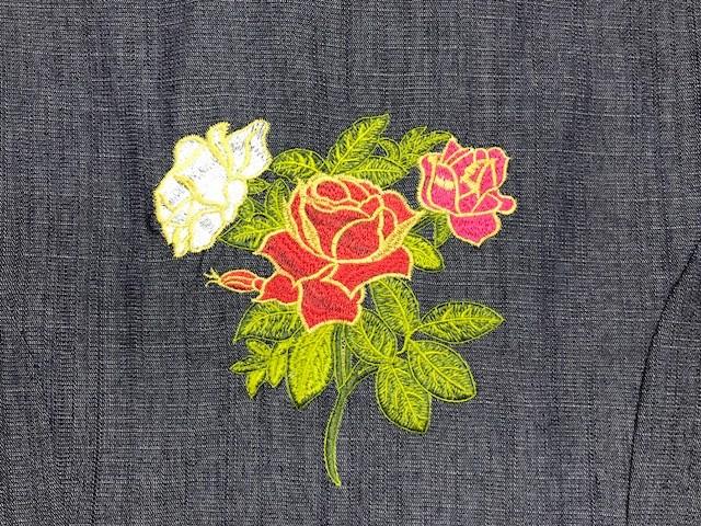 Dólmã Cecília Feminino Acinturado Jeans FLOWERS RED PINK WHITE BOTÕES MARRONS Manga 3/4