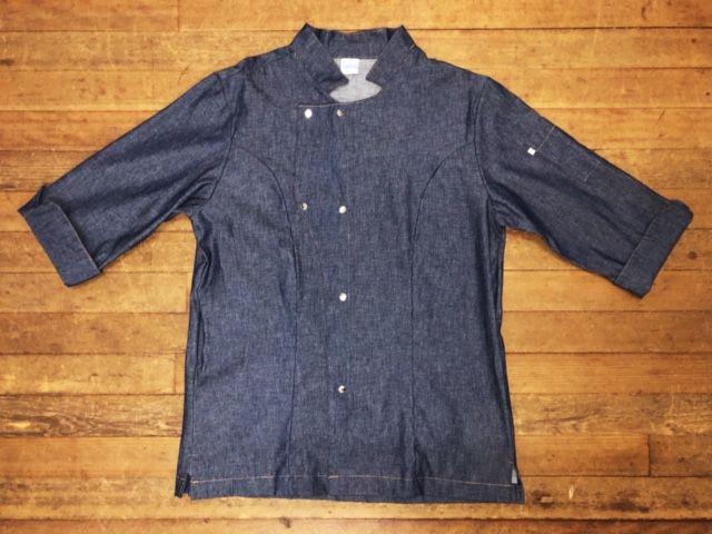 Dólmã George UNISEX  Jeans  (Abotoamento Pressão)- Sarja 100% algodão