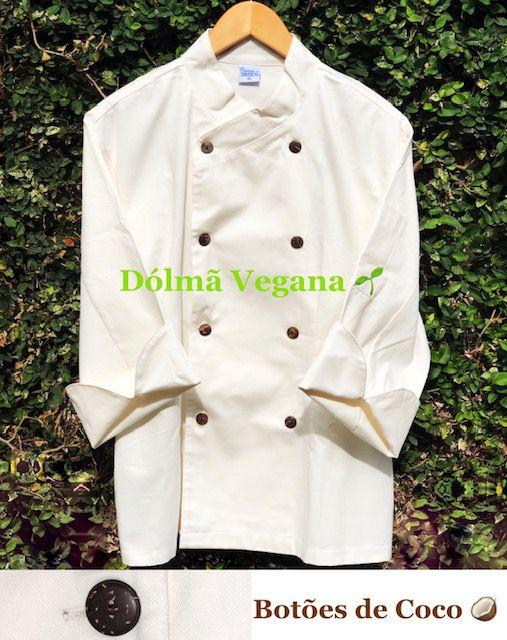Dólmã Gourmet Unissex  VEGAN Botões COCO Orgânico 100% Algodão