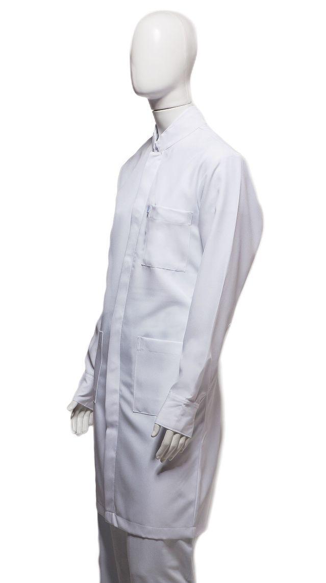 Jaleco Gola de Padre Punho Camisa Masculino Microfibra 100% Poliéster