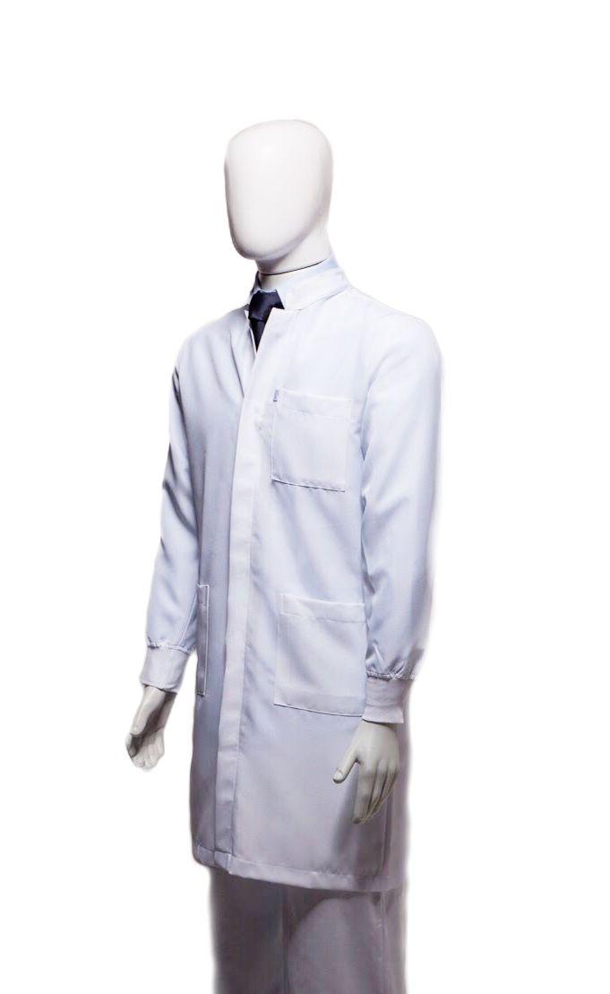 Jaleco Gola de Padre UNISSEX (Punho de Ribana) Microfibra Premium
