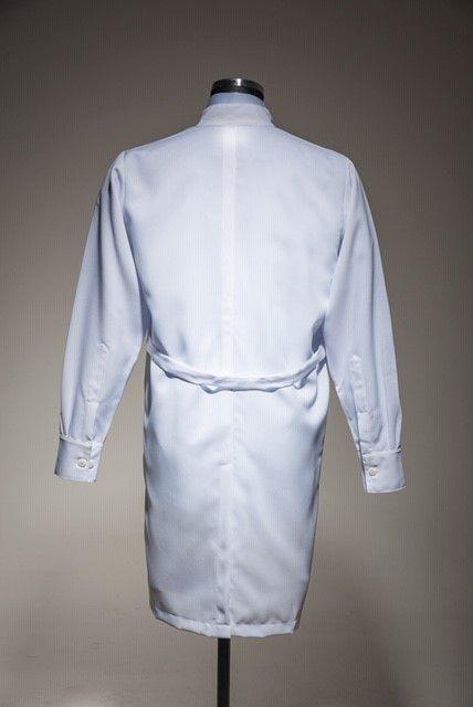 Jaleco Gola Padre Gabardine 100% Poliéster Branca punho de camisa