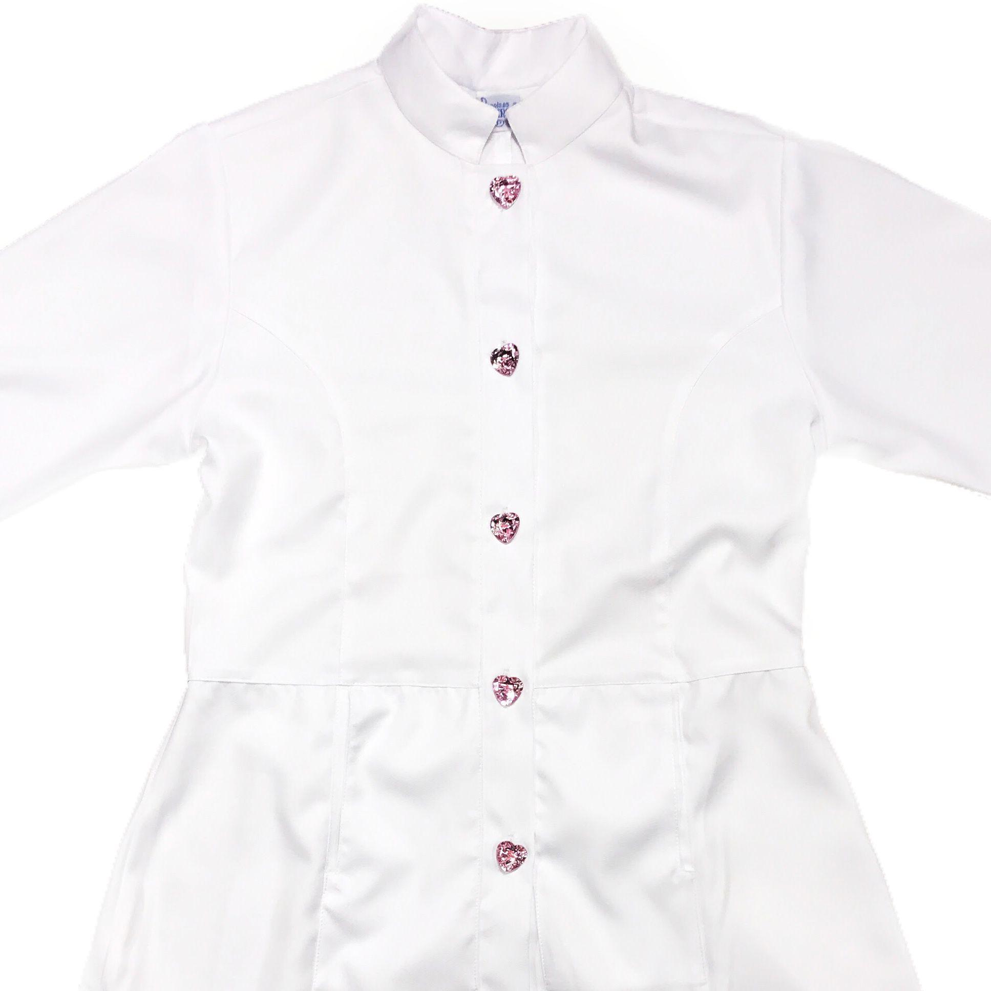 Jaleco Sissi Dress PINK HEART Feminino Acinturado  ML Microfibra PREMIUM