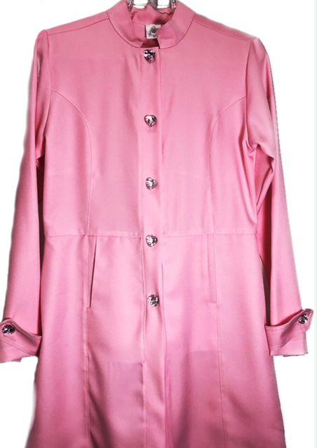 Jaleco Sissi Dress ROSA Botões PINK HEART Feminino Acinturado  ML Microfibra PREMIUM