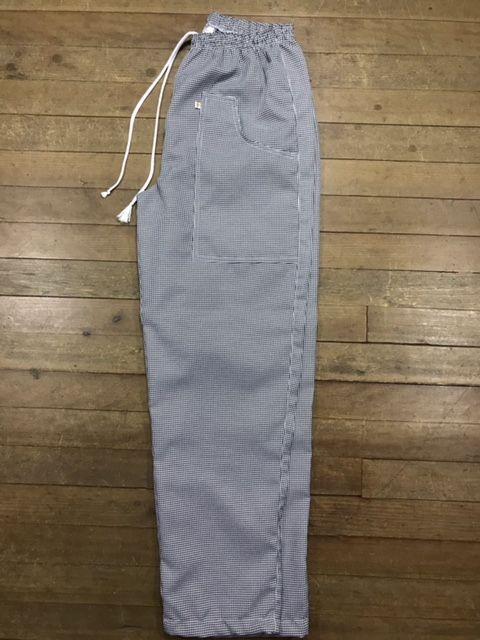 Conjunto Avental 4 Frentes 100% algodão BRANCO  + Calça com elástico total pied poule + Chapéu Chef 100% algodão