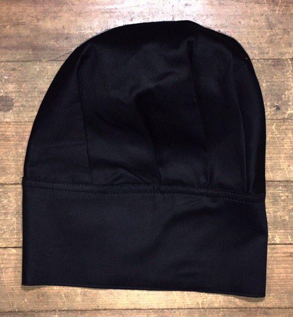 Conjunto Dólmã 100% algodão PRETA VIVO BRANCO  + avental 4 Frentes branco 100% algodão + Calça com elástico total PRETA ALGODAO+ chapéu