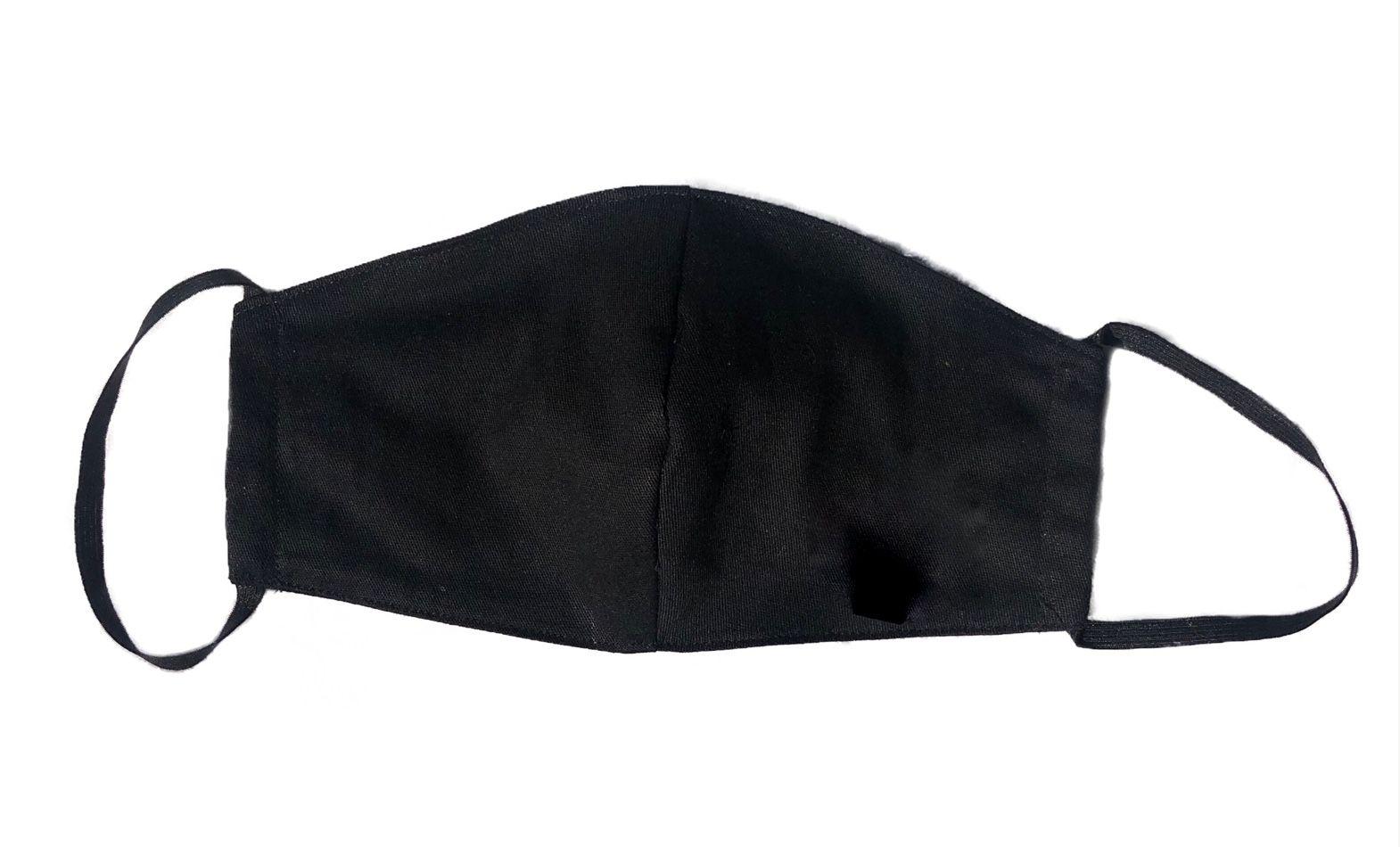 Máscara Preta Sarja Leve 100% Algodão  Interior Tricoline 100 % Algodão