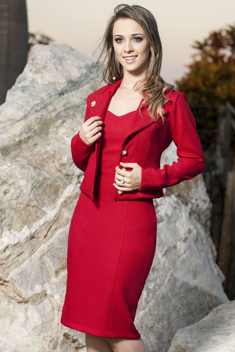 Vestido Bella Herança Super Red 6635