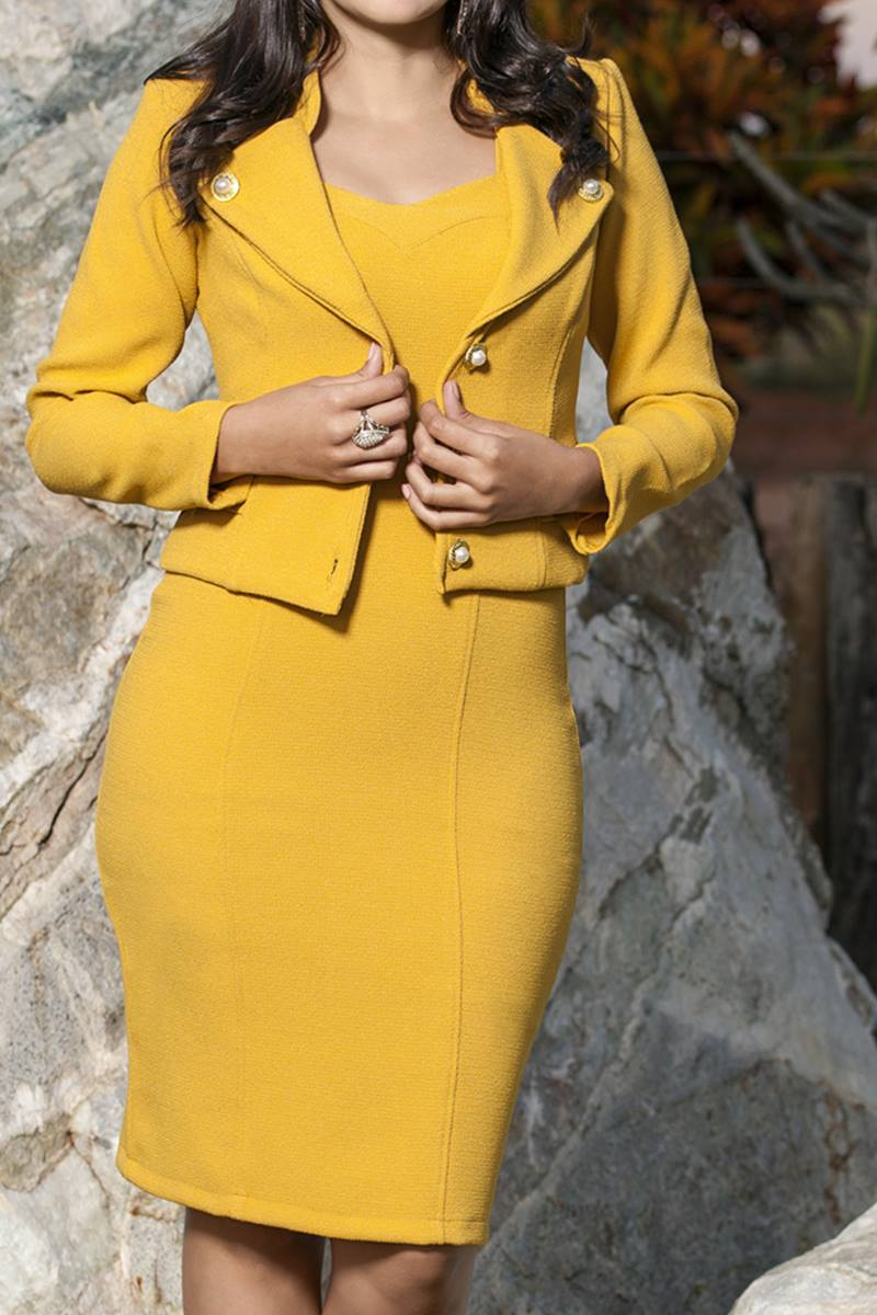 Vestido Bella Herança Super Yellow 6635