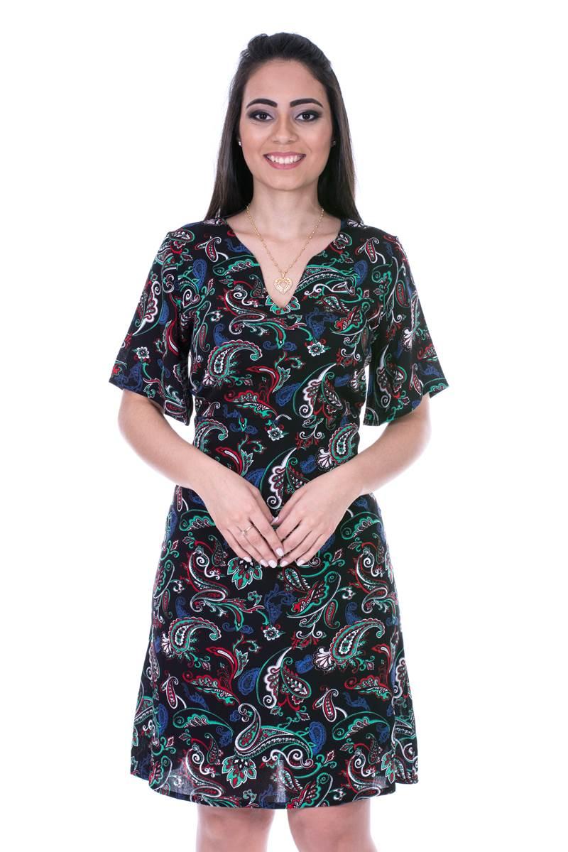 Vestido Modaris  Mosaíco  34073 (Verde)