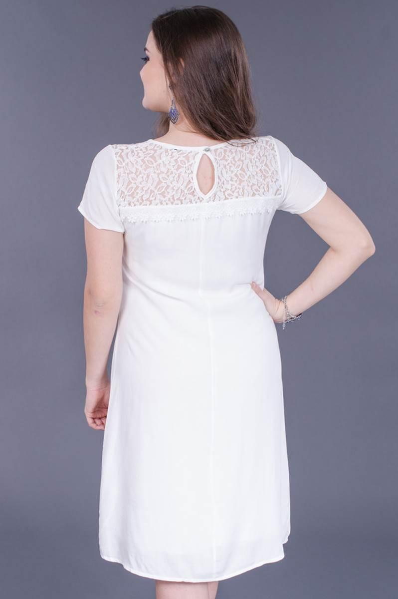 Vestido Modaris Branco Levisse  34061