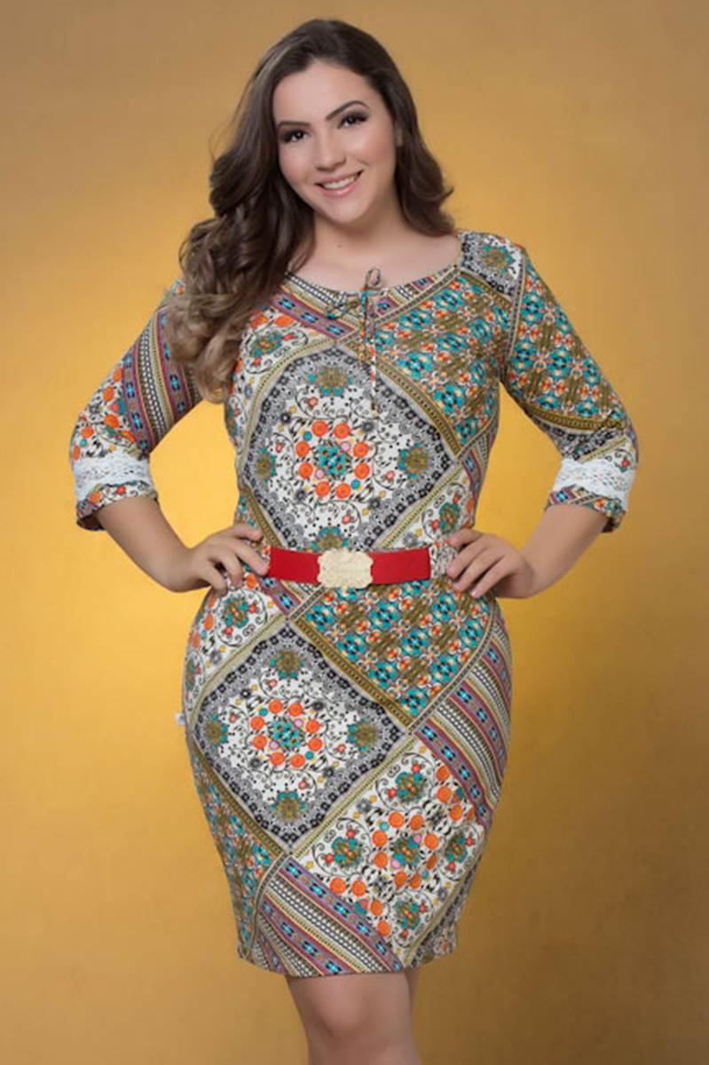 Vestido Marian Laranja 59081