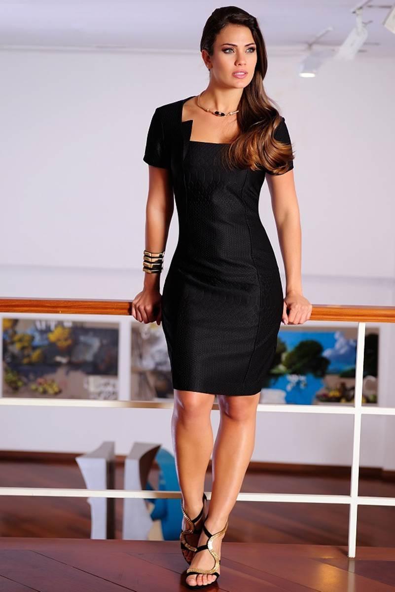 Vestido C�ssia Segeti Croco 1016