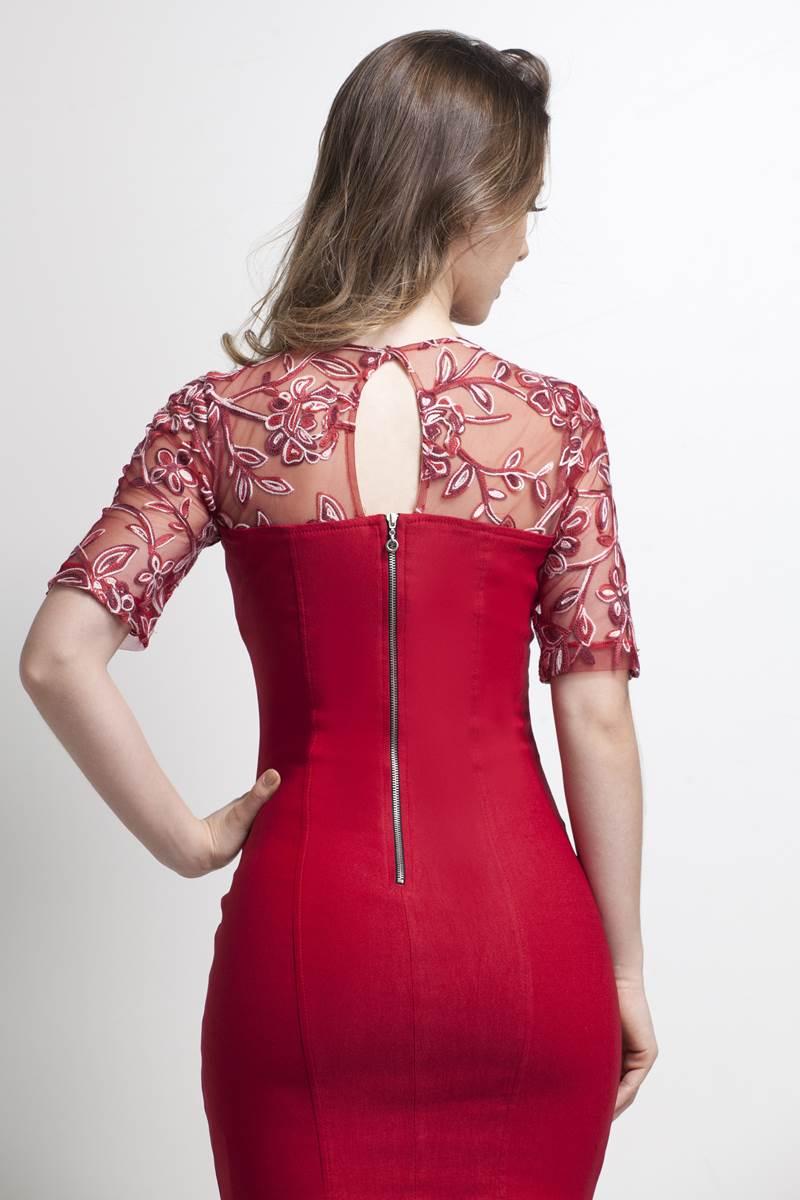 Vestido Bella Herança Vermelho 6701