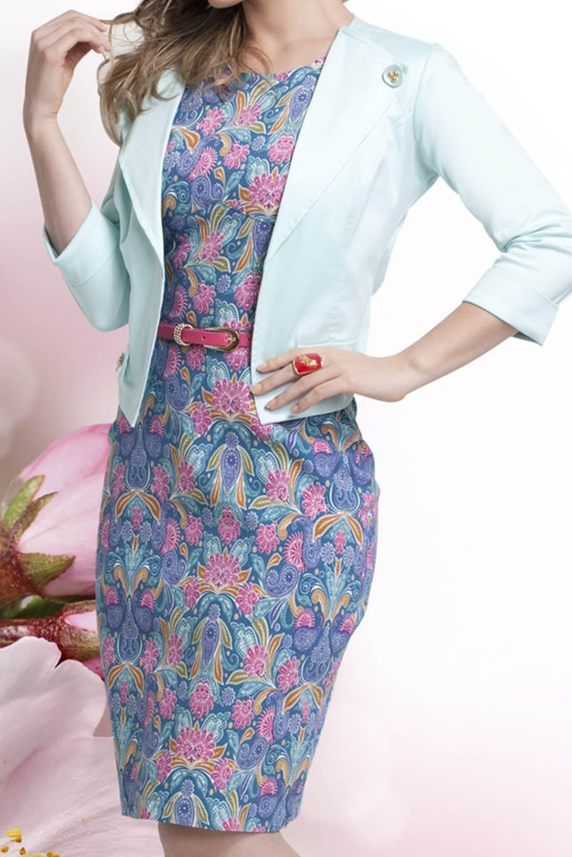 Vestido Bella Herança Floral Azul 6723