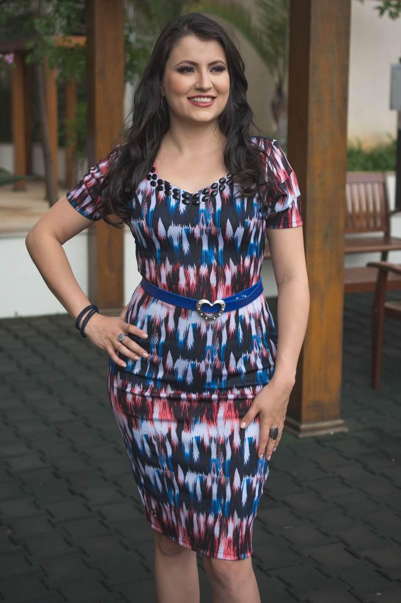 SC112 Vestido Adriele Azul Simmone Carvalho