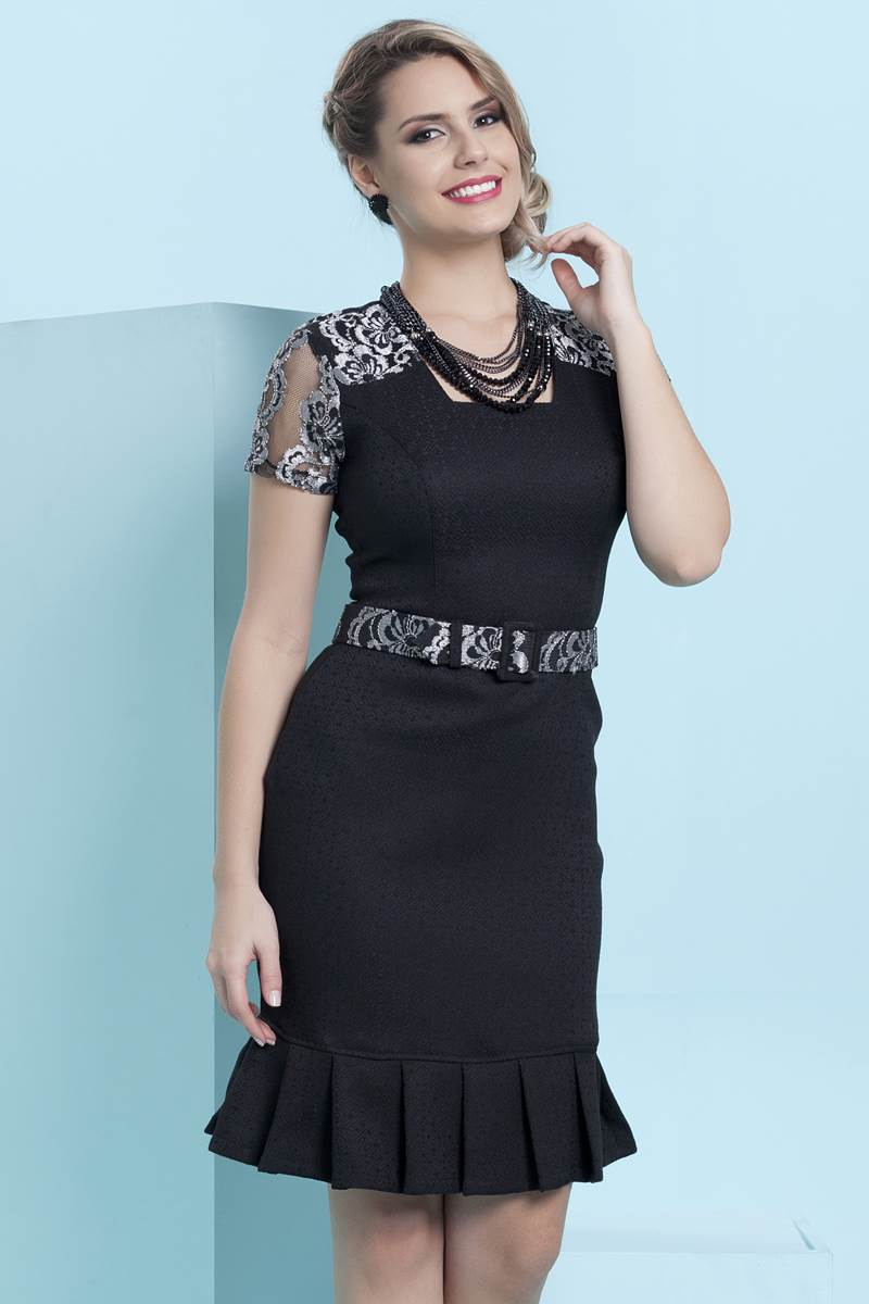 Vestido Bella Herança Black 6930