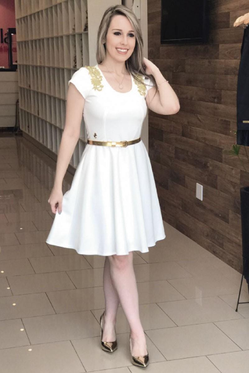 SC125 Vestido Maitê Branco