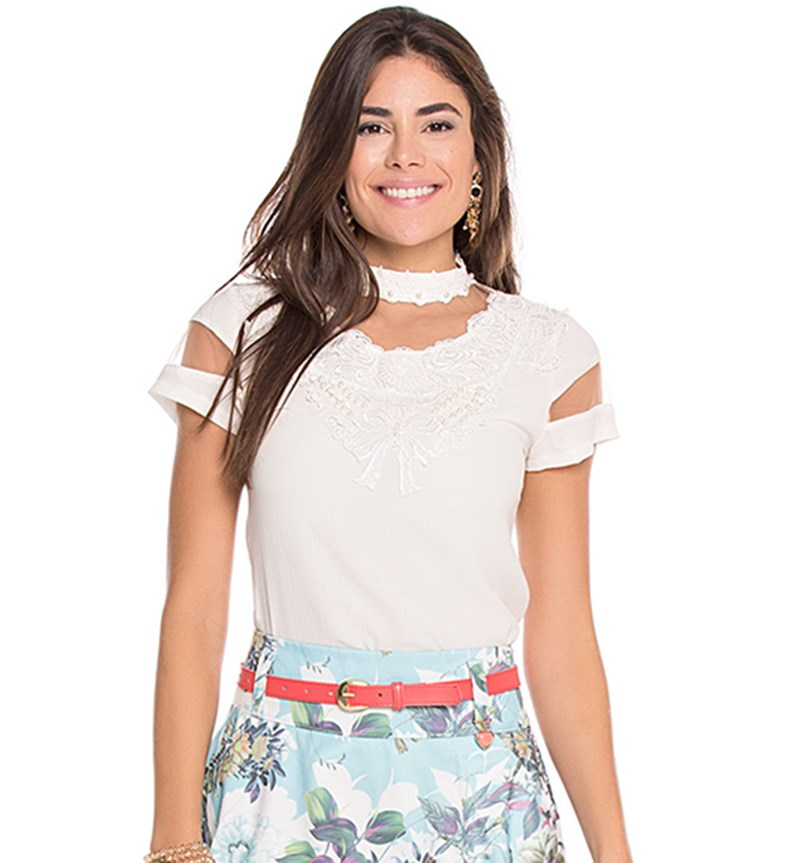 Camisa off white Raje Serenity C2620