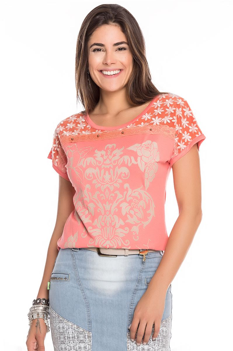 Blusa Raje Lilac coral A870
