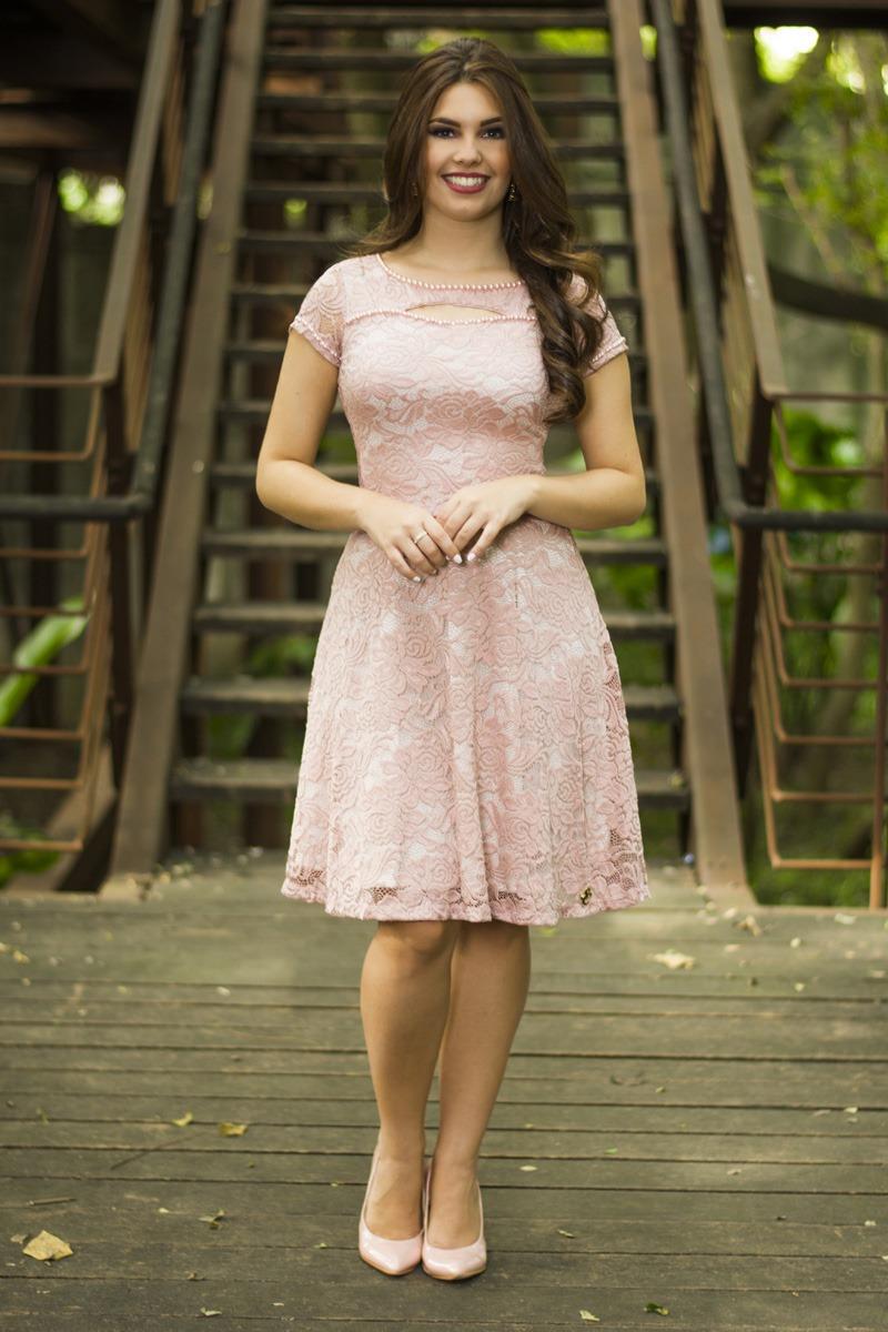 Vestido rose Suelen SC33